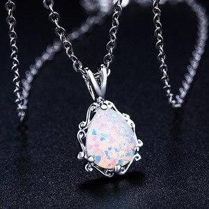 Image 1 - 2020 neue Liebe gott Amor paar Opal Halskette Großhandel Mode Schmuck 100% 925 silber Kristall von Swarovskis Frauen