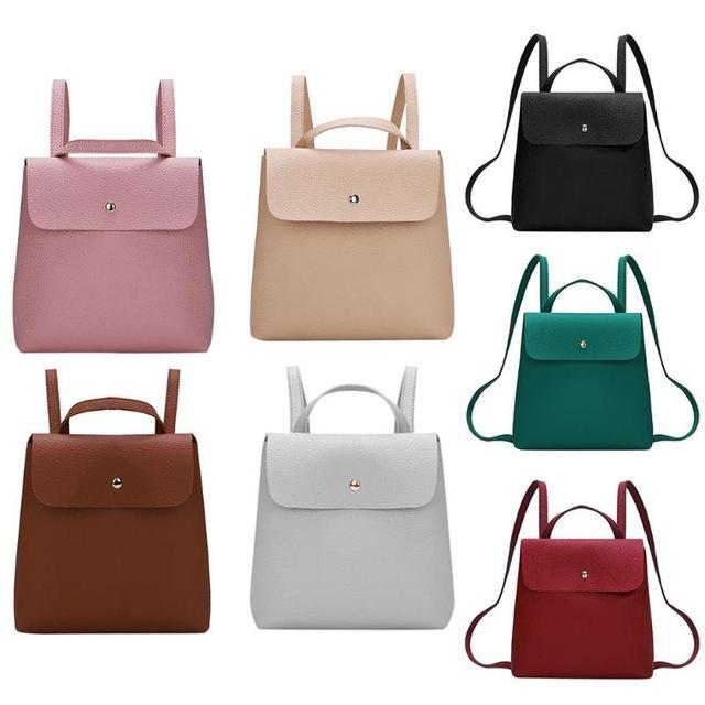 Fashion Women Backpack High Quality PU Leather Backpacks for Teenage Girls Female School Shoulder Bag 1