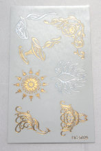 Body Art Beauty Party Women Makeup Golden Decorated Sun Sexy Waterproof Temporary Tattoo Stickers