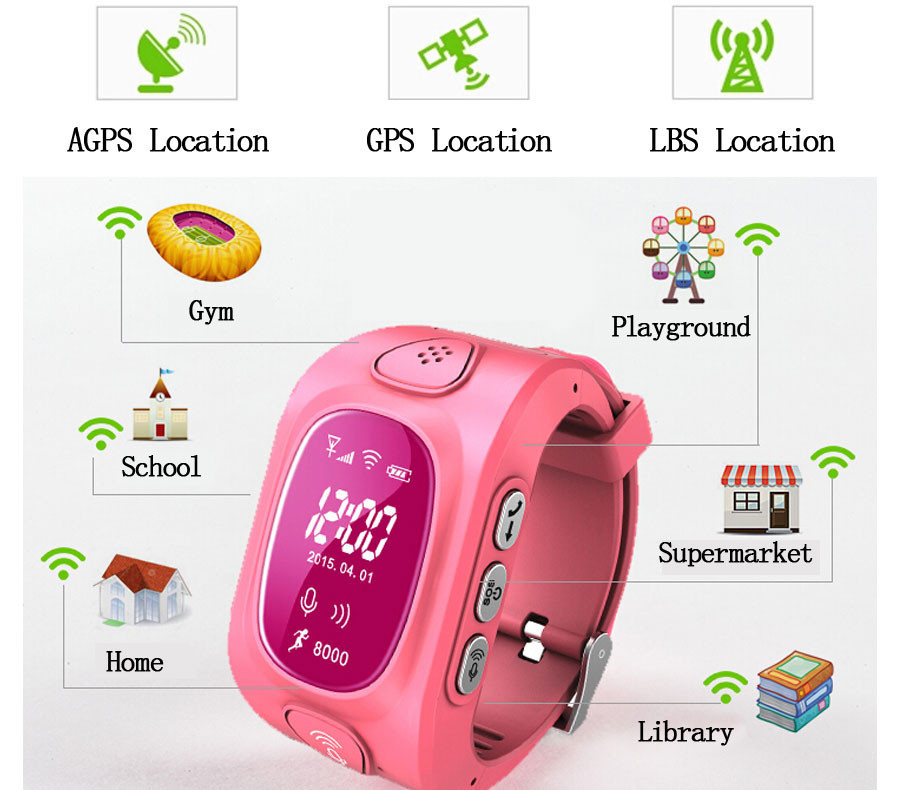 Q50 GPS Tracker Watch for Kids Safe GPS Watch GSM Wifi Wristwatch Y3 SOS Call Finder
