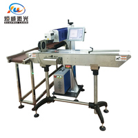 10w 30w Carbon Dioxide Flying Pipeline Laser Marking Machine Coding Metal Jewelry Factory Direct Sales