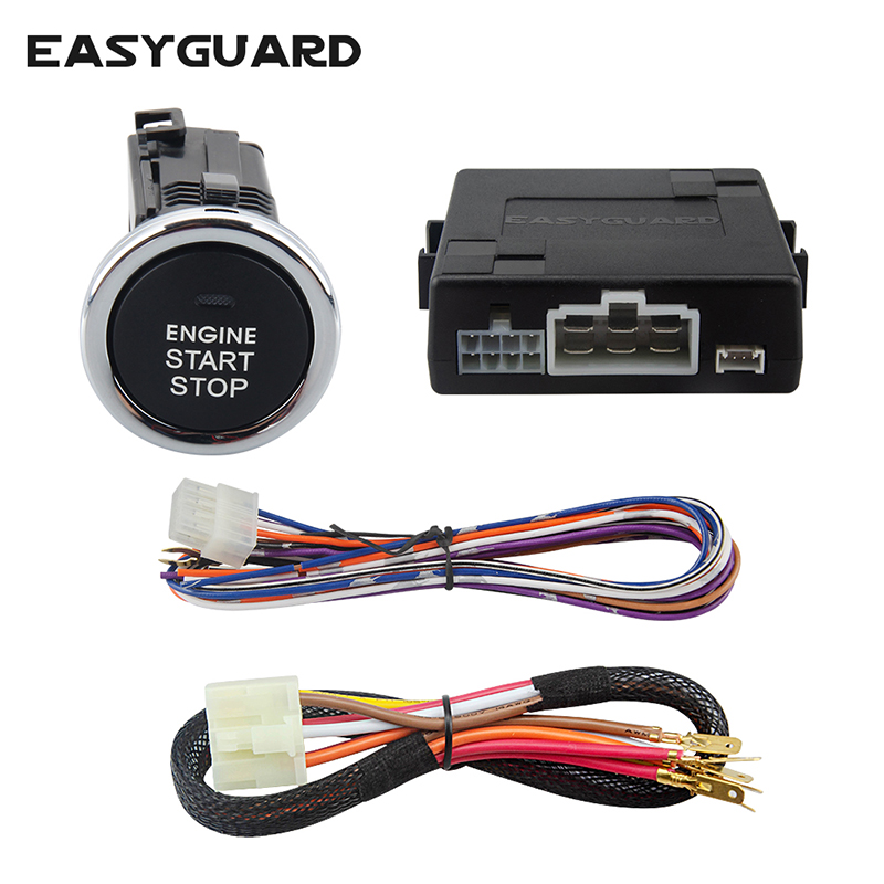 EASYGUARD push button start kit with remote engine start optional for automatic transmission cars only compatible