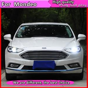 Image 3 - Style de voiture pour Ford Mondeo 2016 2018 phare LED pour nouvelle lampe frontale Fusion clignotant dynamique LED DRL bi xénon HID