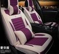 5 unids/set estilo asiento de coche de lino de seda femenina cubre colchón de 2016 nuevas mujeres de la llegada cubierta de asiento de coche cojín cómodo