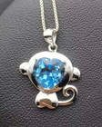 natural blue topaz s...