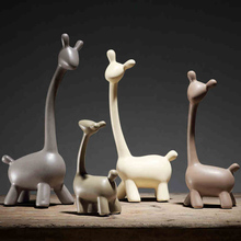 1Set Europe Deer family ceramic decor Gifts Figurines & Miniatures Furnishing Articles Wedding home decoration accessories