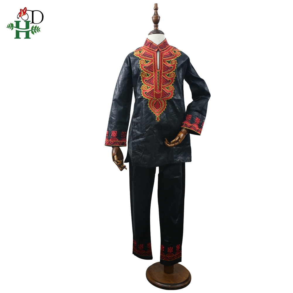 Image 2 - dashiki kid set 2019 african clothing kids boy south africa boys embroidery tops pant suits autumn outfit  TZ8006-in Africa Clothing from Novelty & Special Use