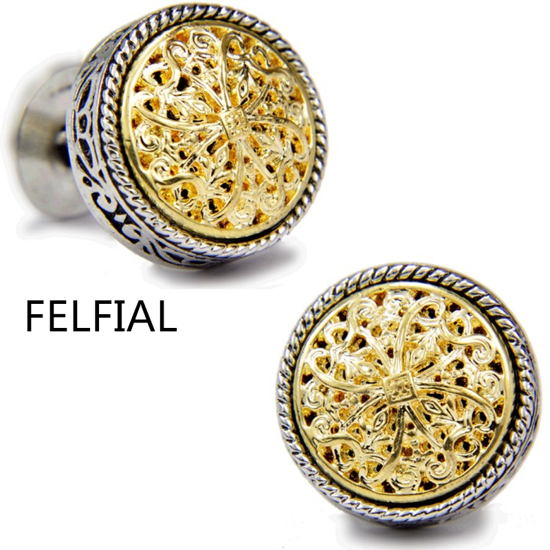 Sparta style shirt cufflink for mens designer Gold & silver Cuff link Button male High Quality Luxury Wedding Free Shipping