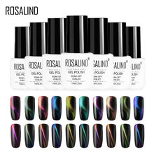 Rosalind Gel Cat Kuku 4D Kucing Ajaib Mata 7 Ml Rendam Off Botol Putih UV Warna Gel Semi Permanen Gel pernis Kuku Seni Manikur(China)