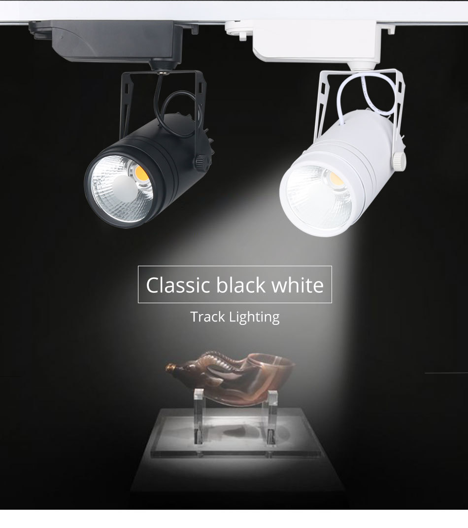 LED Tracking Light Dimmable 15W Spot Rail Lamp Clothing Shoe Store Shop Showroom Focusing Fixtures Spotlights Lights Lighting  (7)