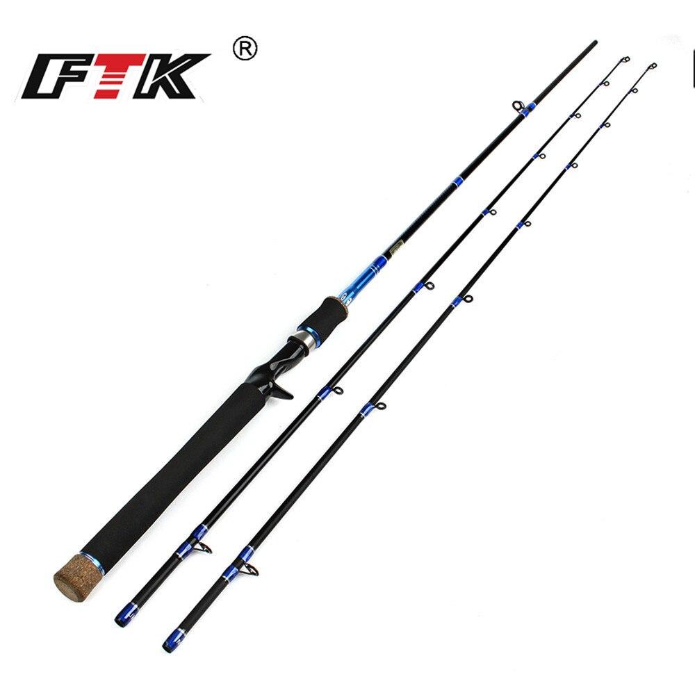 FTK Telescopic Fishing Lure Rod High Carbon Steel 195g111cm Superhard Fishing Tackle Fast Action Baitcasting Wheel Rod Standard