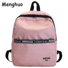 Menghuo School Backpack Women Schoolbag Back Pack Leisure Korean Ladies Knapsack Laptop Travel Bags for Teenage Girls Molichas