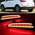 Multi-função LED Light Amortecedor Traseiro Para Hyundai IX25 Creta 2014 2015 2016 Luz De Freio luz de Nevoeiro Vez Lâmpada Traseira a Luz do sinal