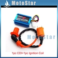 Performance Racing Ignition Coil 5 Pins Wires CDI Box For Dio Elite SA50 SB50 Spree SYM DD50 Arnada Scooter Moped