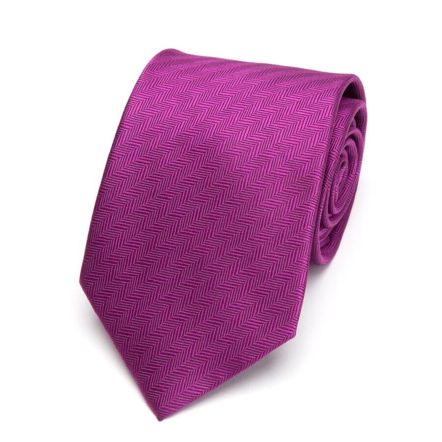 Mens Ties Striped 8cm Luxury Tie's Wedding Men Fashion Gift Neckties Gravata Tie  For Man Business Dress Bowtie Fuchsia Purple