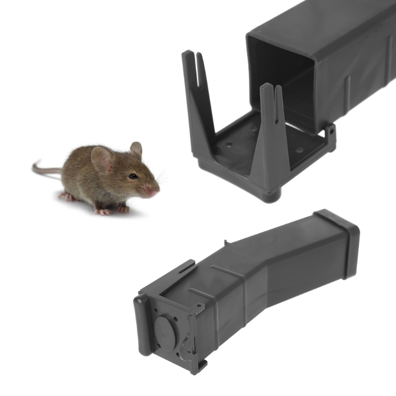 Reusable Plastic Mouse Rat Trap Catcher Rodent Pest Control Bait Cage Box Human image