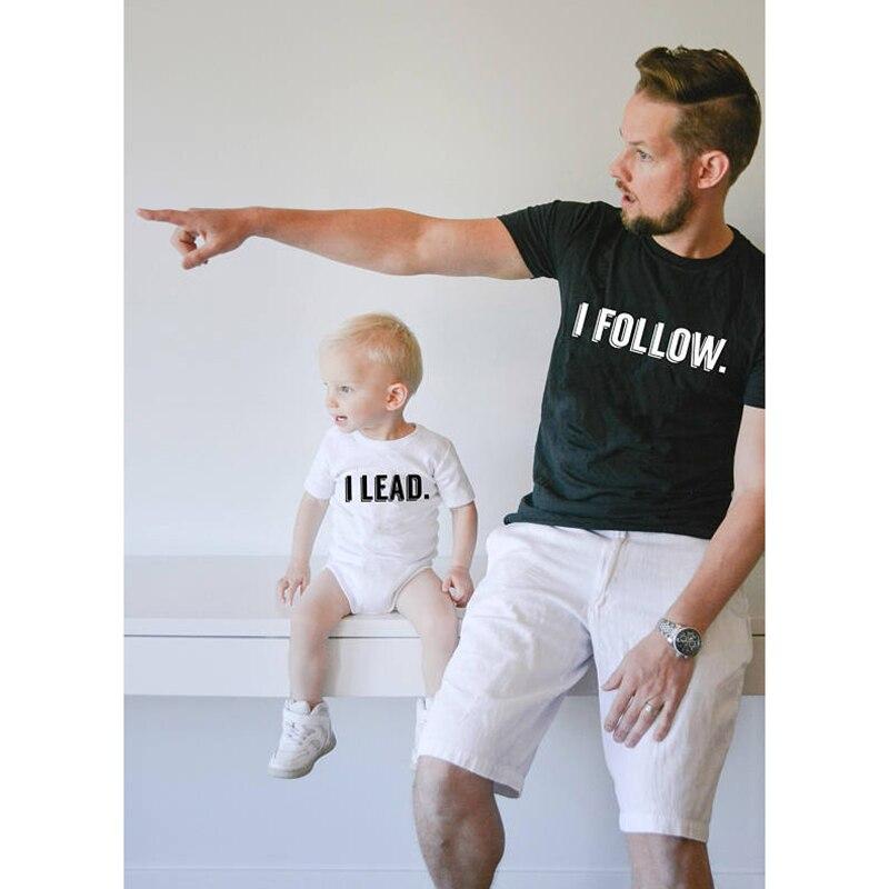 Семья подходящая друг к другу одежда отец и сын 2018 для новорожденных летние Семья наряды Костюмы футболка formother отец детская одежда