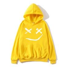Lil peeping funny hoodie 2019 print sweatshirt XL suitable for ladies casual fleece street crying baby lil peep