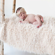 Накидка из искусственного меха для новорожденных; Детский реквизит для фотосессии; одеяло для новорожденных; Корзина с наполнителем для фотосессии; аксессуары для фотосессии; 50*50