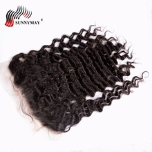 Sunnymay Brazilian Virgin Hair Deep Wave Lace Frontal 13x6 Ear To Ear Natural Hairline With Baby Hair