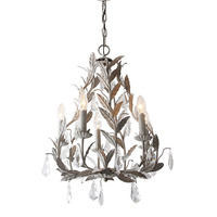 American country wrought iron chandelier crystal lamp European style simple Nordic rural retro old children's room bedroom lamps