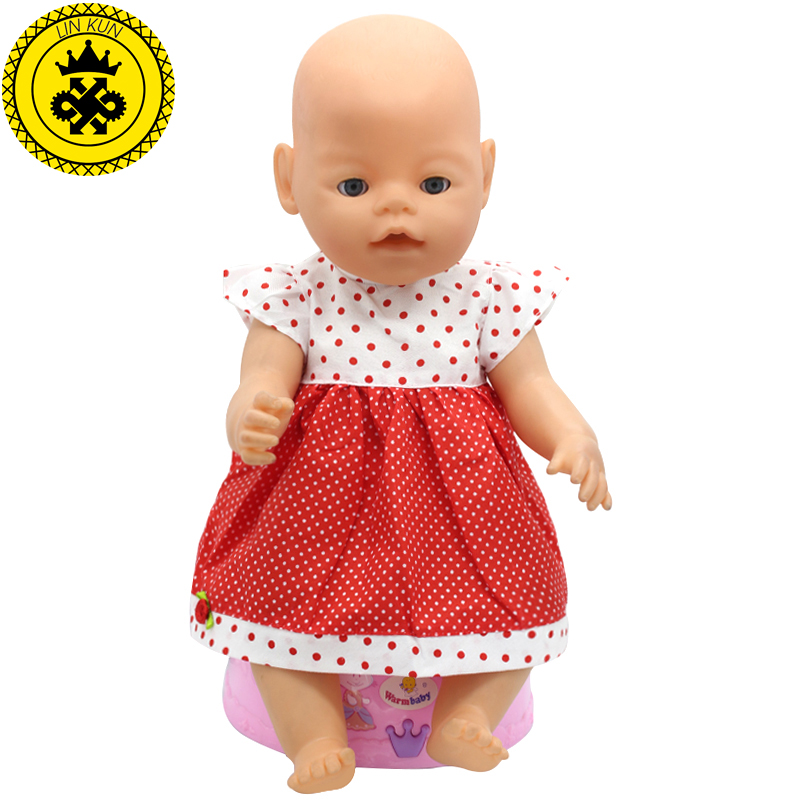 Fit-43cm-Zapf-Baby-Born-Doll-Clothes-Pink-Handmade-Suspender-Skirt-Clothes-Dress-Christmas-Gift-Doll-Accessories-Fashion-212-3