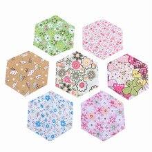 Хлопчатобумажная ткань Nanchuang 30 шт./лот с шестигранной/низкой плотностью и тонкой тканью для квилтинга и шитья