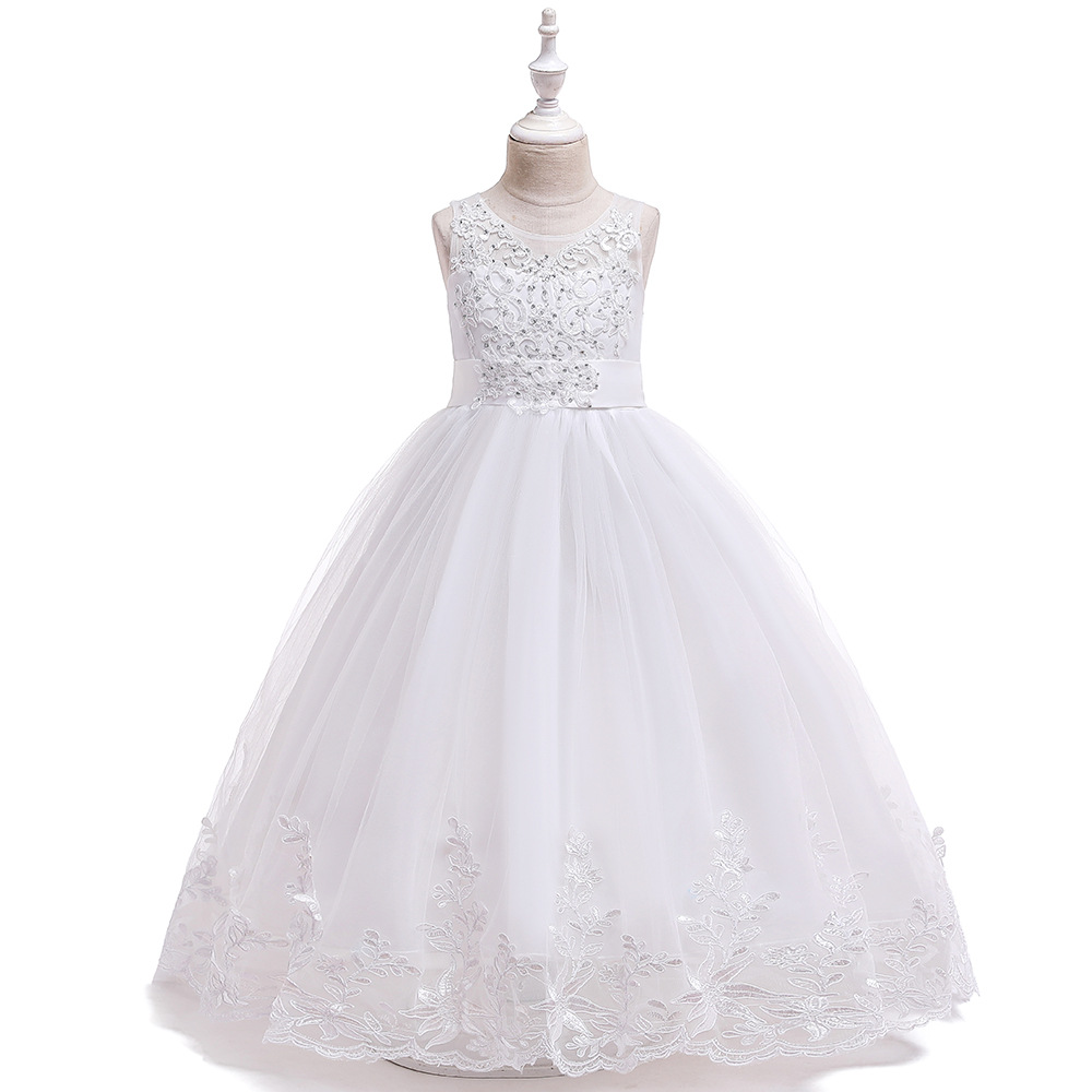 Beauty  Ballgown White  Lace  First Communion Dress  For Girls Flower Girl Dresses  For Wedding  Evening Party