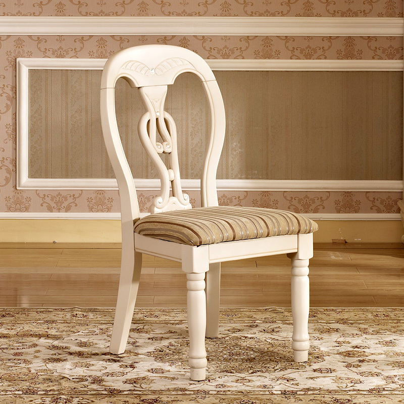 Remarkable European Retro Dining Chairs Minimalist Wood Home White Pabps2019 Chair Design Images Pabps2019Com