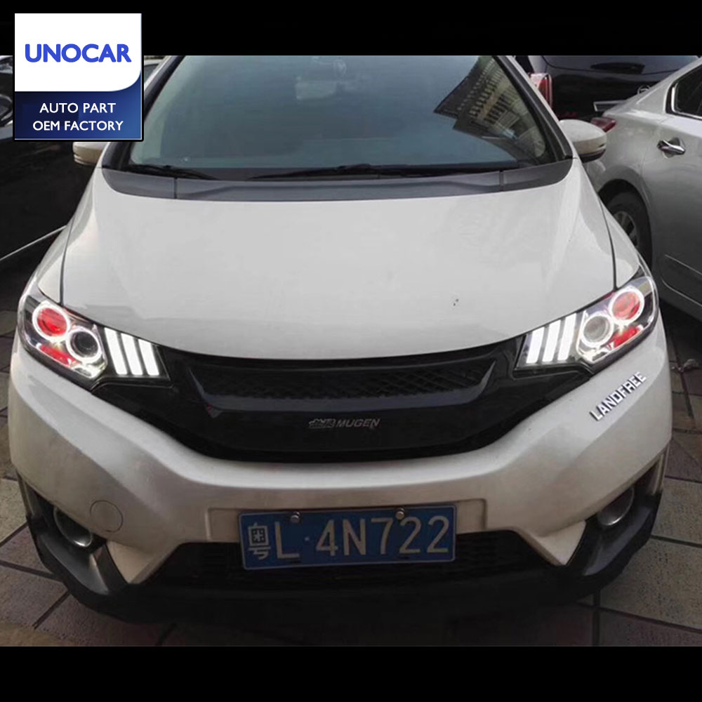 Head Lamp for Honda Fit Headlights 2014 2017 Jazz LED Headlight DRL Daytime  Running Light Bi Xenon HID Accessories-in Car Light Assembly from  Automobiles ...