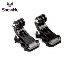 SnowHu J フックバックル表面の Gopro アクセサリー用 2 個移動プロヒーロー 8 7 6 5 4 xiaomi 李 SJCAM SJ4000 アクションカメラ GP20
