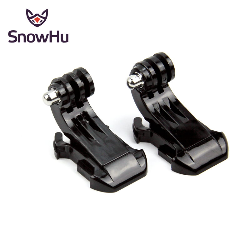 SnowHu J-Hook Buckle Surface Mount For Gopro Accessories 2PCS For GoPro Hero 8 7 6 5 4 Xiaomi Yi SJCAM SJ4000 Action Camera GP20
