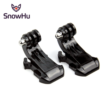 SnowHu J-Hook Buckle Surface Mount For Gopro Accessories 2PCS For GoPro Hero 8 7 6 5 4 Xiaomi Yi SJCAM SJ4000 Action Camera GP20 switch mount plate vlog plate for gopro hero 8 7 6 5 for dji moza feiyu zhiyun action camera accessories handheld gimbal adapter