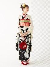 伝統的な日本浴衣 枚セット女性着物プリント素敵なコスプレ衣装クラシックイブニングパーティードレスドレス 9