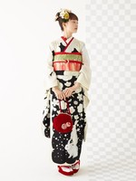 Traditional Japanese Yukata 9 Pieces Set Women Kimono With Obi Printed Lovely Cosplay Costume Classic Evening Party Dress Gown