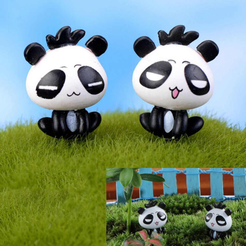 1 Аппликации Мини панда миниатюрные гномы мох аксессуары для террариума фигурки аксессуары экшн игрушки Фигурки