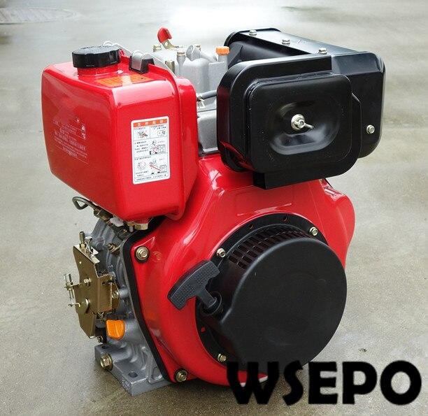 Approvisionnement Direct d'usine! Moteur Diesel refroidi par Air de WSE-178F 6hp 305cc, Injection directe pour le générateur/pompe à eau/Spliter/motoculteur de ferme
