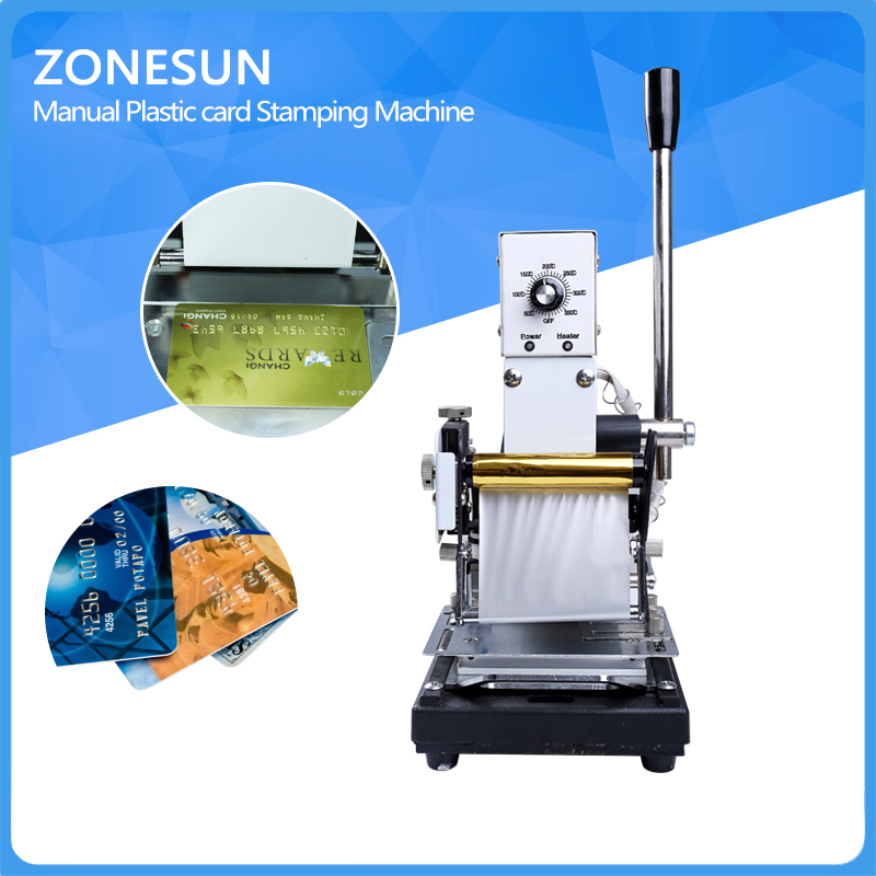 ZONESUN Bronzing Card Tipper Hot Foil Stamping Machine For Paper Leather PVC Hot Foil Stamping Creasing Machine