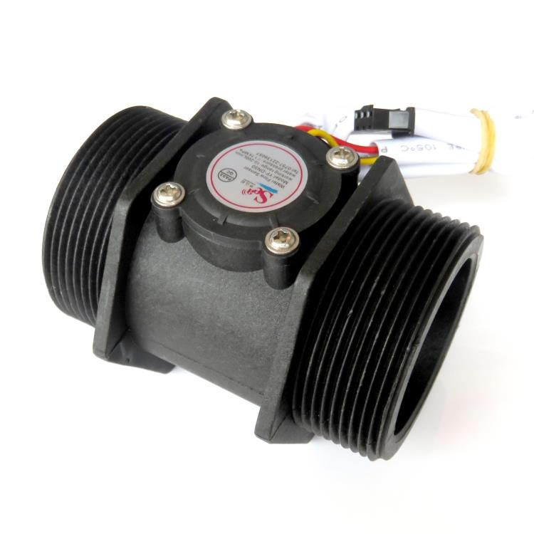 DN50 turbine flowmeter, water flow sensor, 2 inch pulsed flowmeter, industrial class large flowmeter