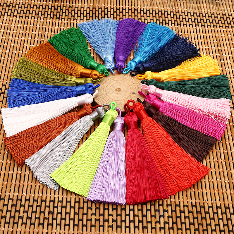 12pcs/lot 80mm tassel silk fringe sewing bangs flower tassel decorative pendant tassels  ...