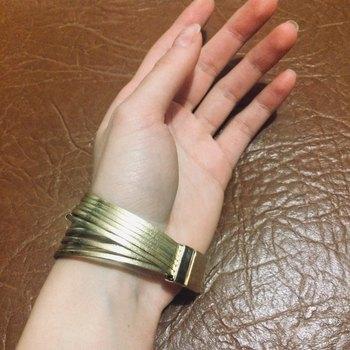 17KM New Gold Leather Multiple Layers Wrap Bracelets 5