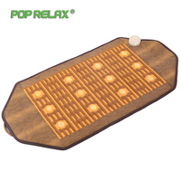 Poprelax Health Electric Heating Massage Mat Pad Body Pain Relief Jade Tourmaline Mainfan Stone Mattress Massage Instrument 4595