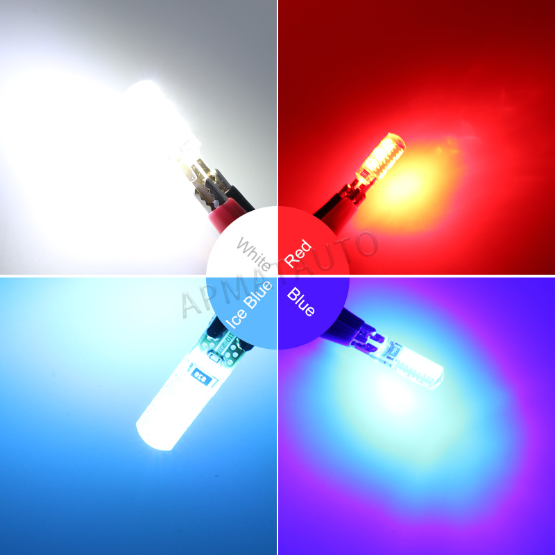 2 x T10 W5W T16 LED Parkir Lampu Sidelight Marker Lamp Bulb Canbus - Lampu mobil - Foto 6