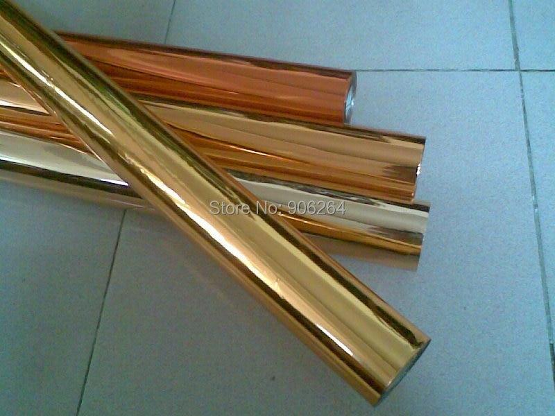 0.7X131 ярдов Золотая фольга горячего тиснения бумаги теплопередачи печать пакета ремесла Сделай сам