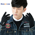 Gloves Men Women 2017New Casual Full Finger Gloves Male Warm Thick Autumn Winter Cashmere Knitted Biker Mittens Guantes