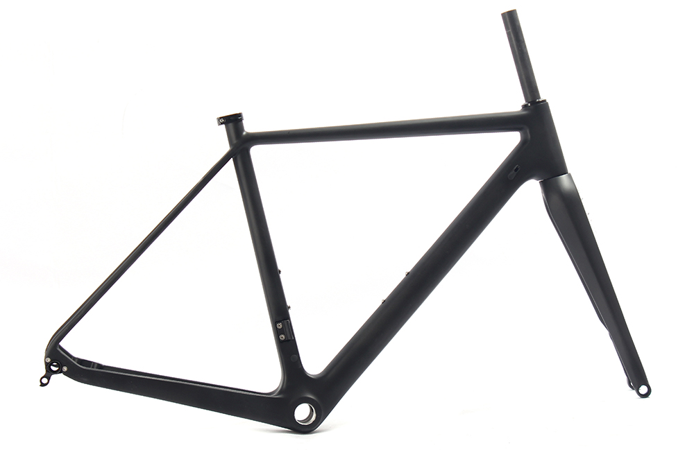 Carbon SOBATO For Thru Axle 142mm Available Gravel 700C Carbon Bike Frame,Gravel Di2 Carbon Cyclocross Frame Disc brake 2017 newest 1 1 disc road bike frame 4 sizes for disc carbon frame ultra light frame fork seat post headset bb adapter thru axel