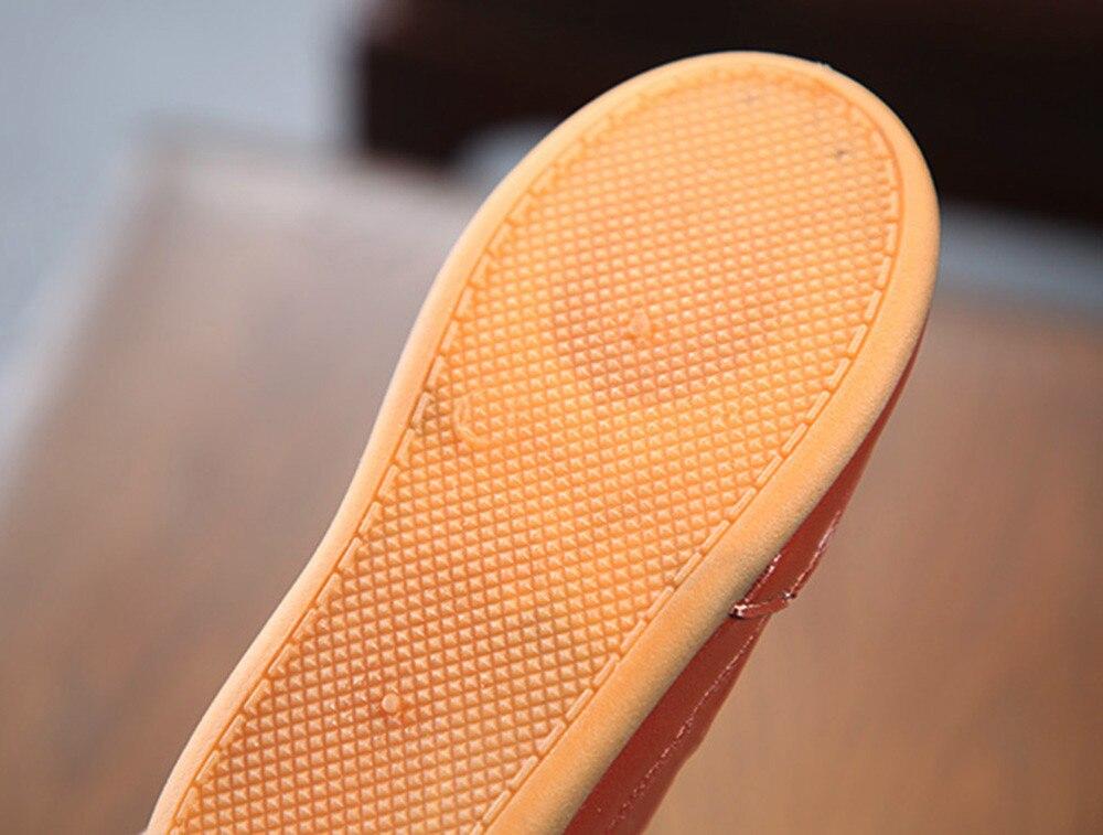 Bébé garçon chaussures cuir semelle souple sans lacet mocassins chaussures garçons mocassins semelle souple bébé chaussures x97 - 4