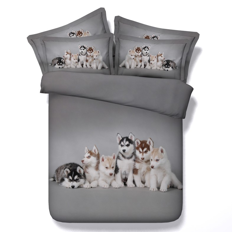3d Dog Print Comforter Sets Bedding Duvet Cover Bed Sheets