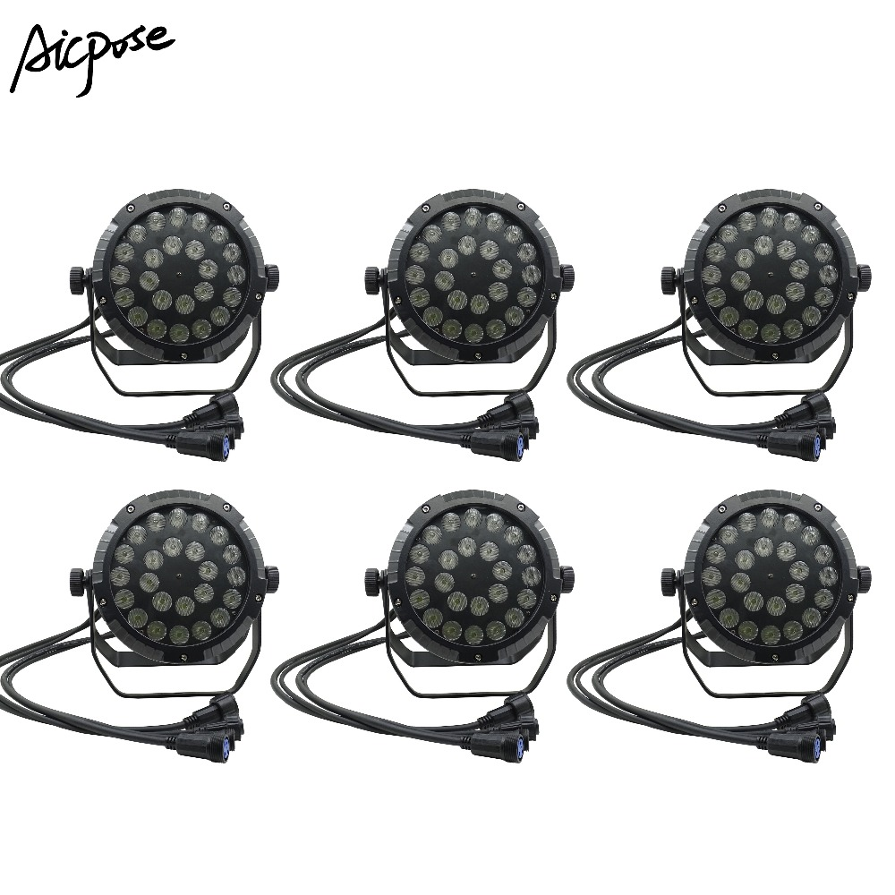 6pcs/lots Ip65 Outdoor Waterproof24x12w Rgbw 4in1 Or 24*18w 6in1 Led Par Light With Dmx512 Ip65 Staining Lighting Wall Washer Wide Selection; Stage Lighting Effect Lights & Lighting
