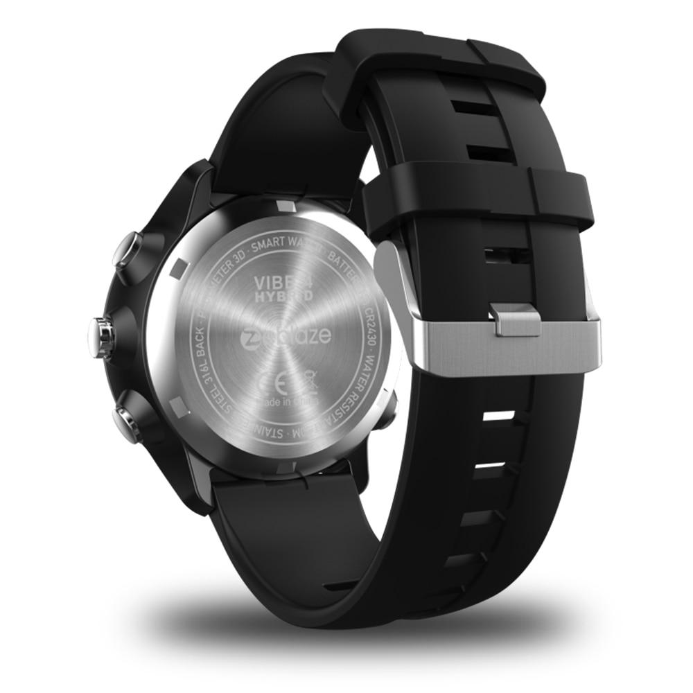 IP67/50M Water Resistant ZEBLAZE VIBE 4 HYBRID Rugged Smartwatch 1.24inch FSTN & Mechanical Hands Sapphire Glass Smart Watch Men